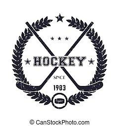 Hockey vintage emblem, logo