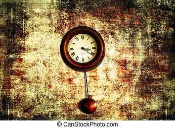 hodiny, s, kyvadlo