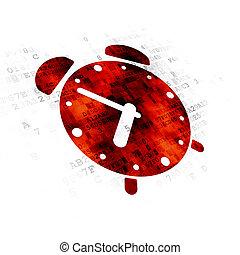 hodiny, timeline, úzkost, grafické pozadí, digitální, concept: