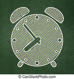 hodiny, timeline, úzkost, tabule, grafické pozadí, concept: