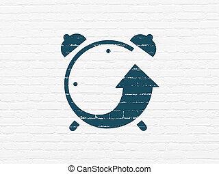 hodiny, val, timeline, úzkost, grafické pozadí, concept: