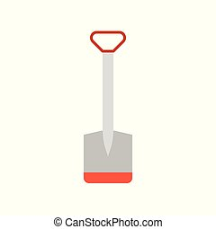 hoe flat icon, farm tool vector