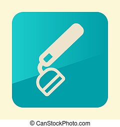Hoe flat vector icon. Garden Equipment - Hoe flat icon....
