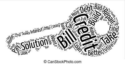 hoe, om te bouwen, krediet, voor, een, beter, toekomst, tekst, achtergrond, woord, wolk, concept