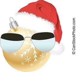 hoedje, bauble, kerstman