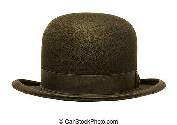 hoedje, bowler, black , of, derby