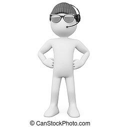 hoedje, lijfwacht, zonnebrillen