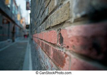 hoek, abstract, straat
