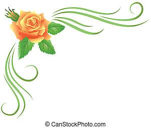 hoek floral, ornament