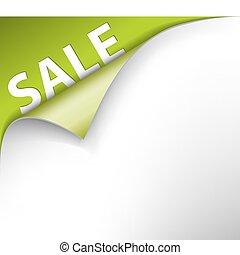 hoek, groene, verkoop, achtergrond