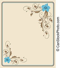 hoek, ornament, floral