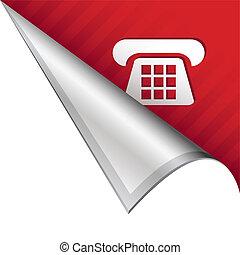 hoek, telefoon, tabblad