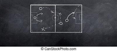 hoek, voetbal, schop