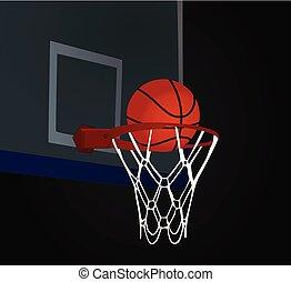 hoepel, basketbal bal
