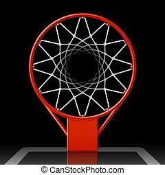 hoepel, basketbal, black