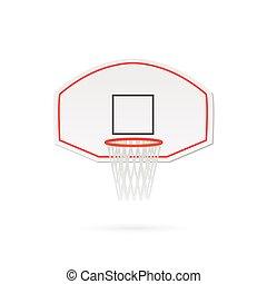 hoepel, basketbal, illustratie