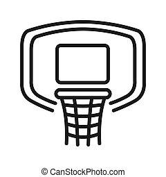 hoepel, basketbal, ontwerp, illustratie