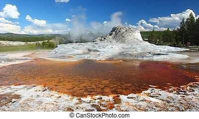hofburg, geysir,  Yellowstone