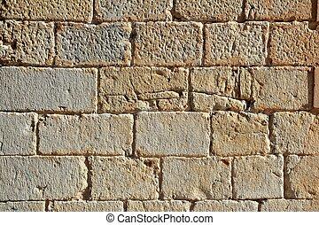 hofburg, mauerwerk, wand, geschnitzt, stein, reihen, muster, beschaffenheit