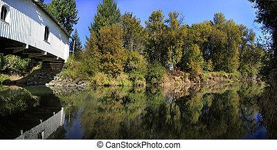 Hoffman Covered Bridge Over Crabtree Creek