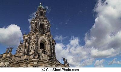 Hofkirche--church in Dresden - Hofkirche or Cathedral of...
