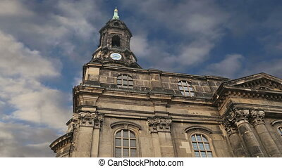 Hofkirche or Cathedral,Dresden - Hofkirche or Cathedral of...