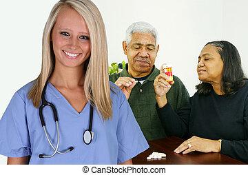 hogar, asistencia médica