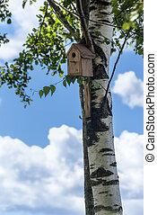 hogar, -, aves, birdhouse