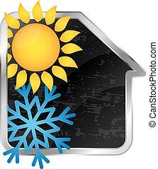 hogar, calefacción, condicionamiento, aire