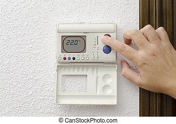 hogar, calefacción, y, enfriamiento