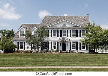 hogar, colonial, suburbios
