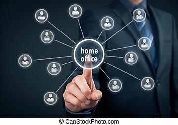 hogar, concepto, oficina