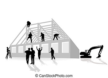 hogar, construcciones, trabaja