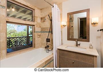 hogar, contemporáneo, bathroon
