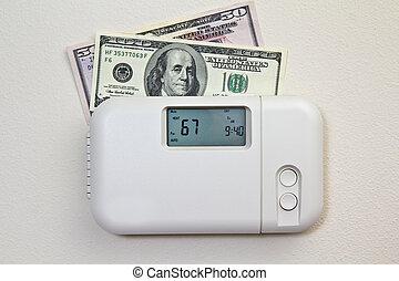 hogar, costes, calefacción