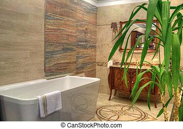 hogar, cuarto de baño, completamente nuevo, lujo