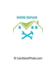 hogar, emblema, reparación