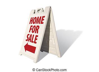 hogar, en venta, tienda, señal