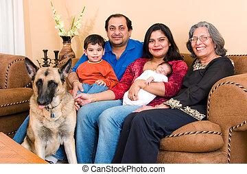 hogar, indio este, familia