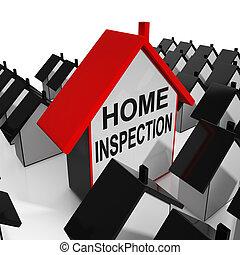 hogar, inspección, casa, medios, revisión, y, escudriñar, propiedad