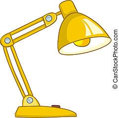 hogar, lámpara, caricatura