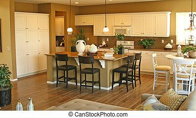 hogar, modelo, interiores