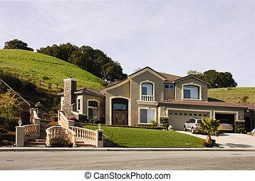 hogar, moderno, california, norteño