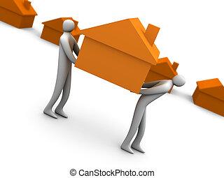hogar, movimiento, -, empresa / negocio