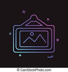 hogar, muebles, icono, diseño, vector