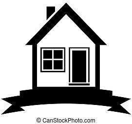 hogar, negro, cinta