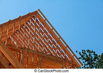 hogar, nuevo, construcción, currently, debajo
