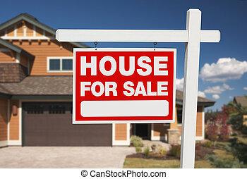hogar, para el signo de liquidación, y, nuevo hogar