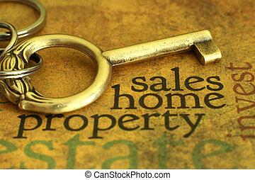 hogar, propiedad, ventas