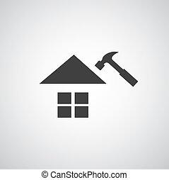 hogar, símbolo, reparación